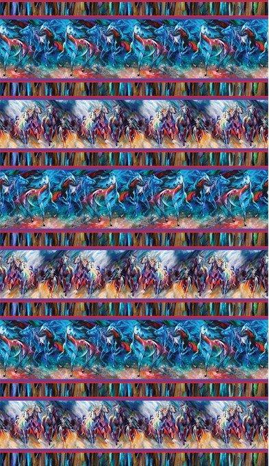 Painted Horses 6662-99 Border Stripe