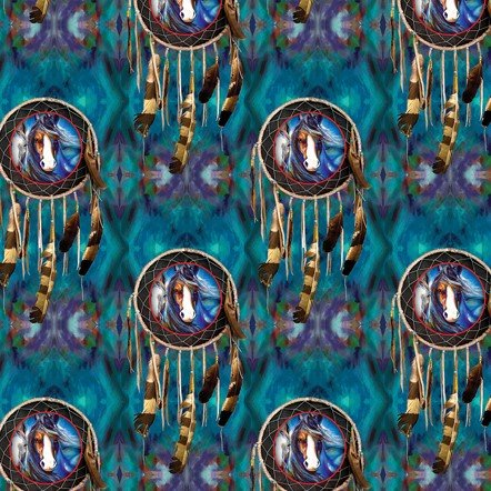 Painted Horses 6663-84 Teal Dream Catcher
