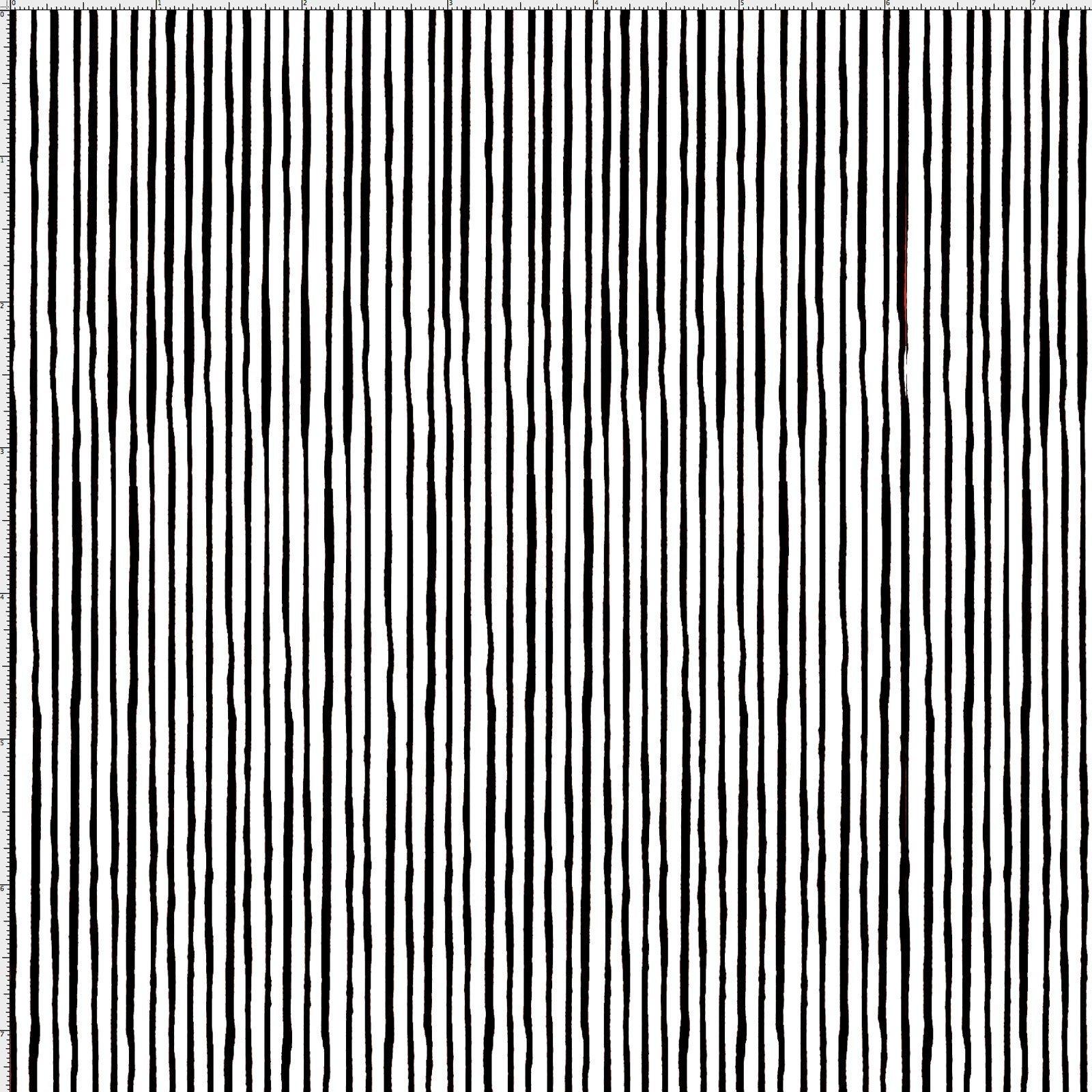 Quirky Pin Stripe White/Black 691-819