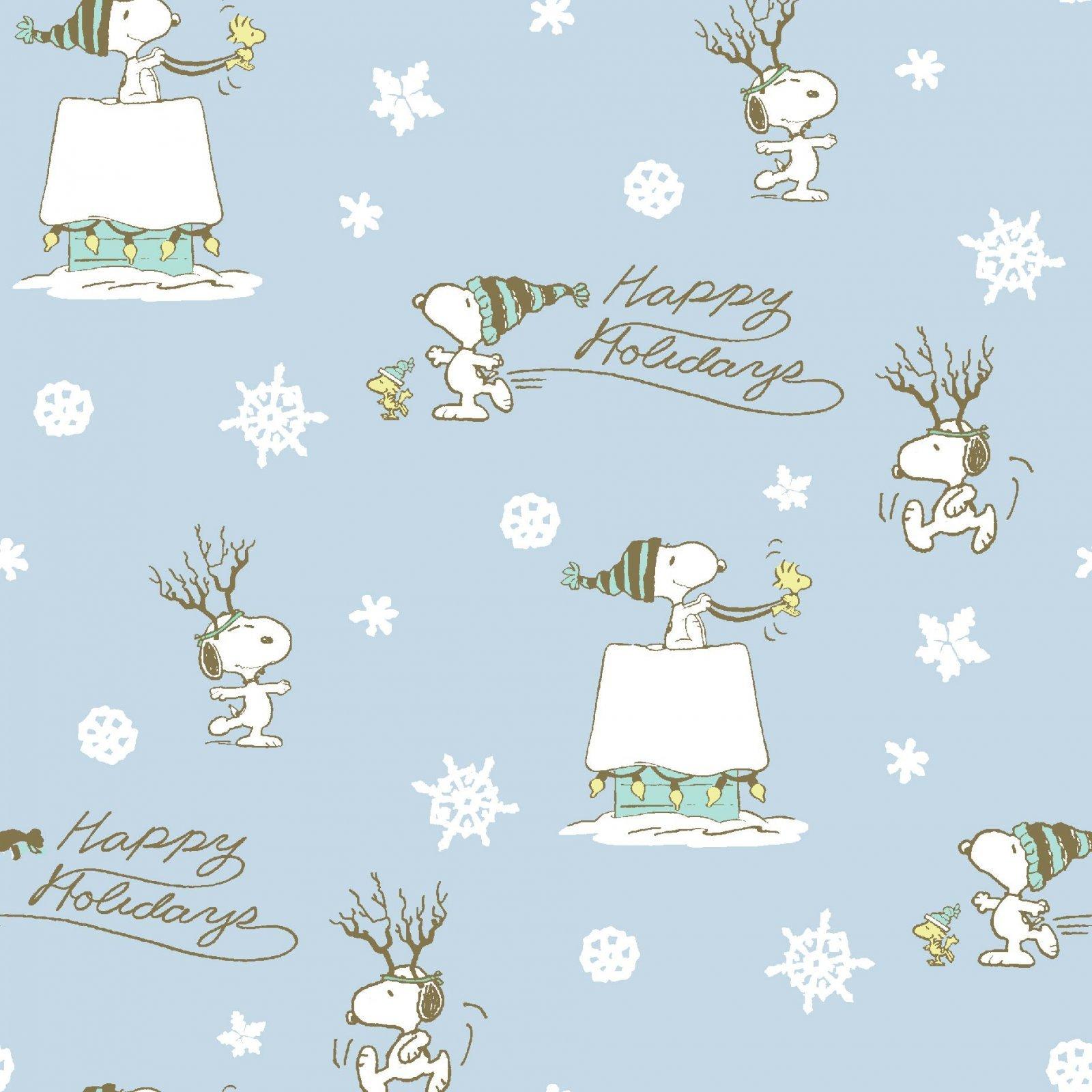 Charlie Brown Peanuts 71781 Holiday Snowflakes Blue