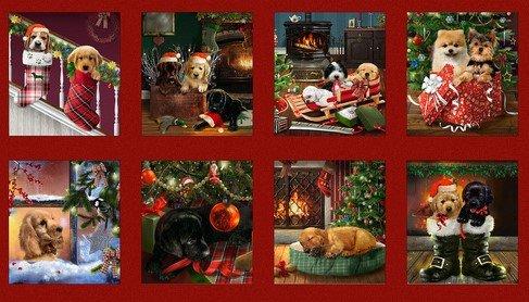 Fireside Pups 7191-88 Blocked 24 Panel