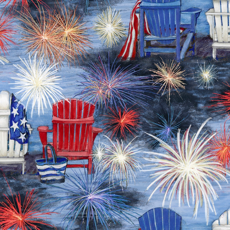 Patriotic 72545 Chair Scenic Fireworks