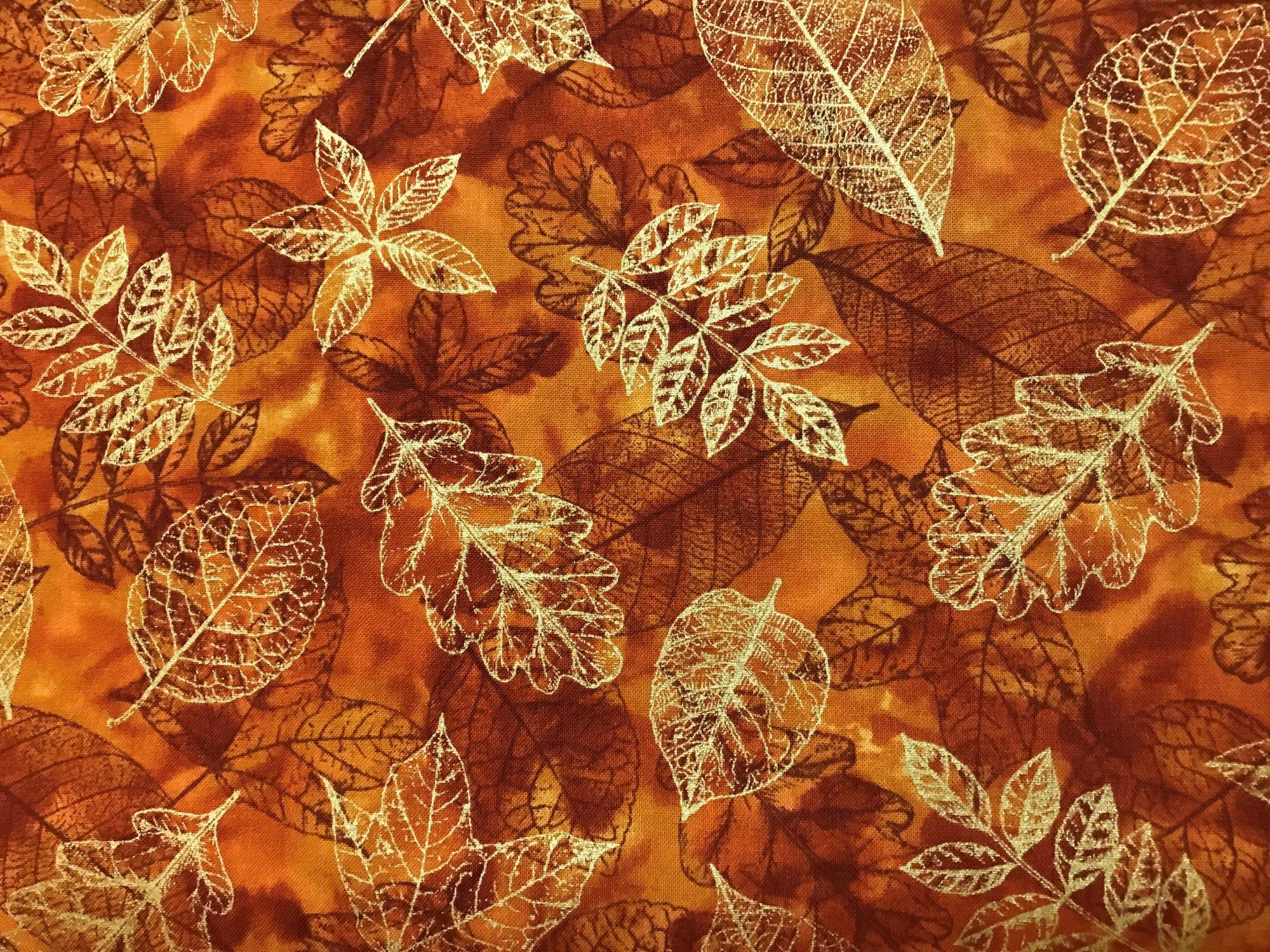 Fall Harvest Rust Leaves CM7276 metallic