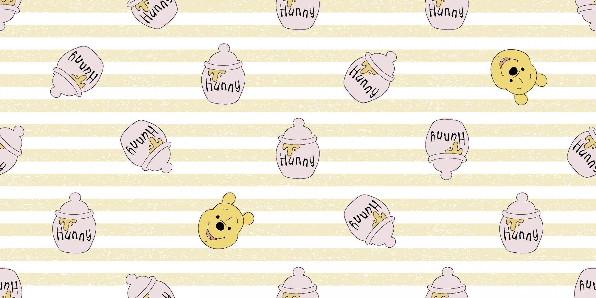 Disney Pooh 72977 Honey Pots on Stripes