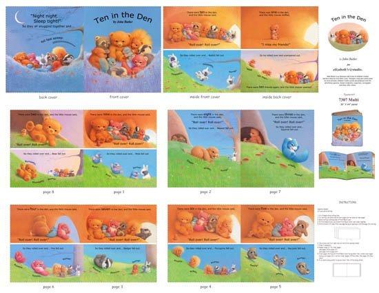 Ten in the Den Softbook Panel 7307
