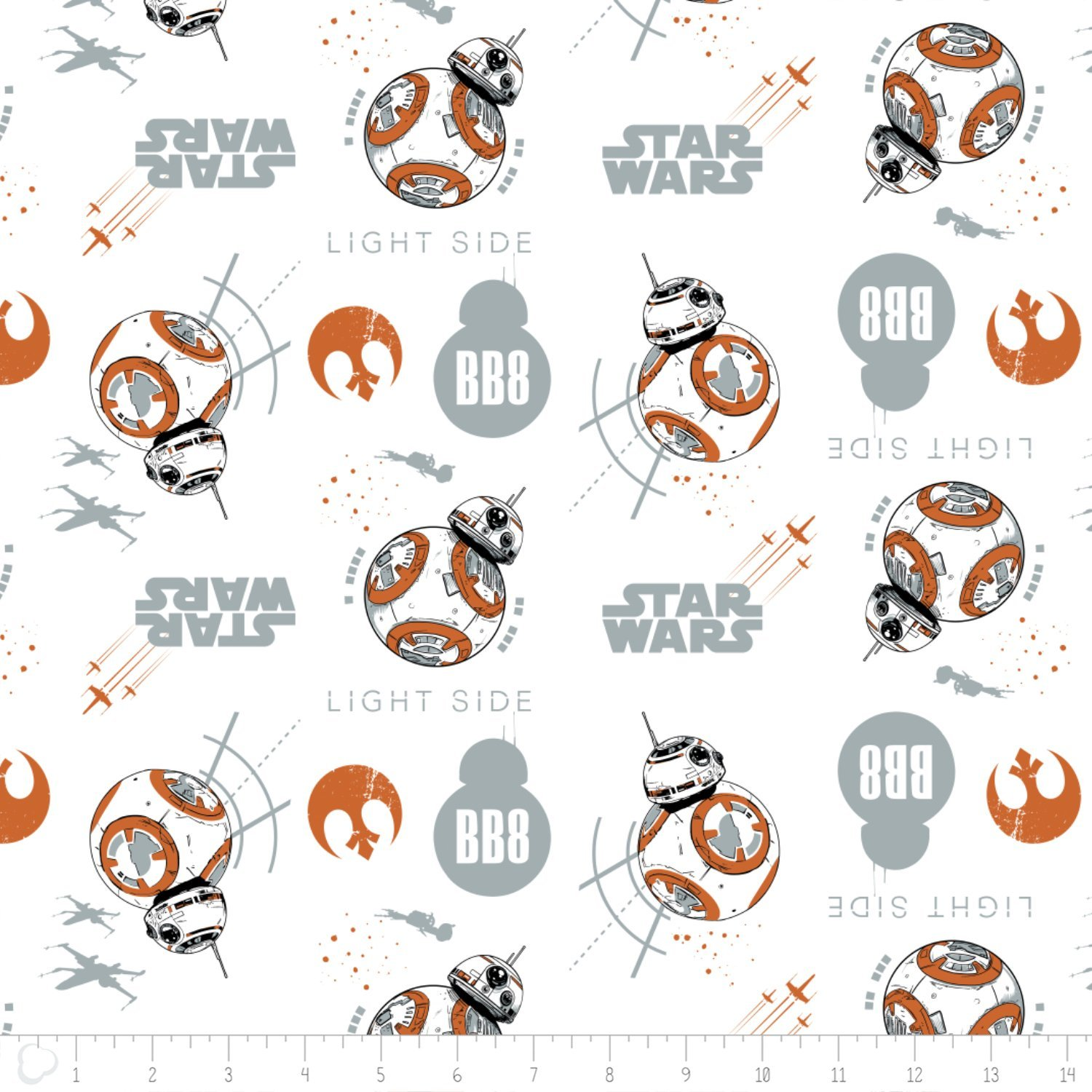 Star Wars 7360403-2 BB8 on White