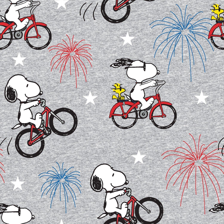 Charlie Brown Peanuts 73988 Snoopy Fireworks Grey