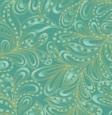 Cat-i-tude Paisley 7755M-44 Green