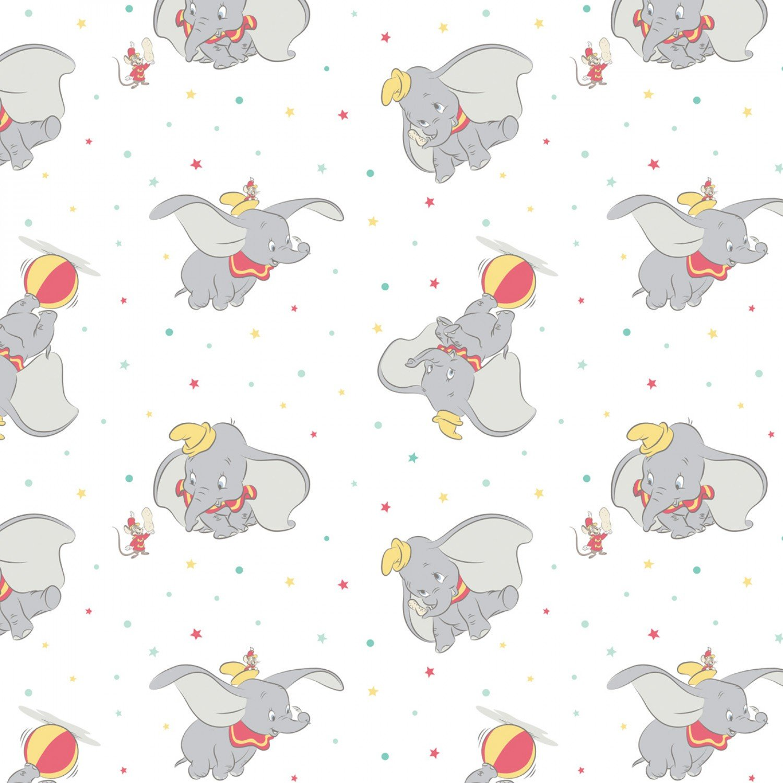 Disney Circus Dumbo 85160205-01 White Toss