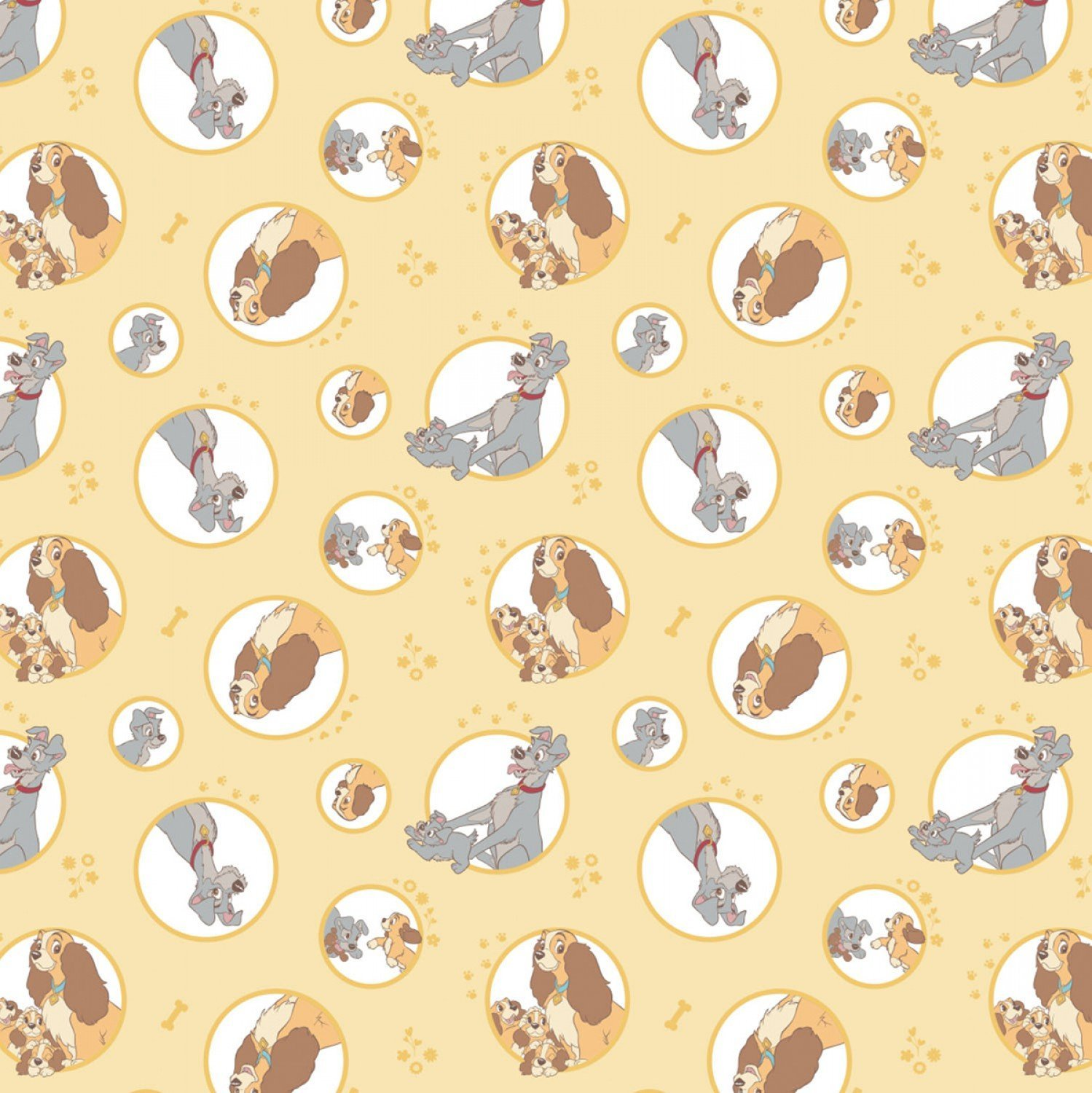 END OF BOLT Lady & The Tramp 85230103 Yellow - .71 YD