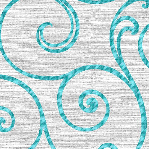 Teal Swirl 8525-11 Grey