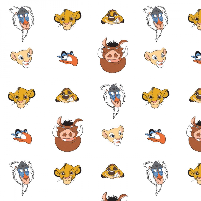 Lion King 85260203-01 Faces White