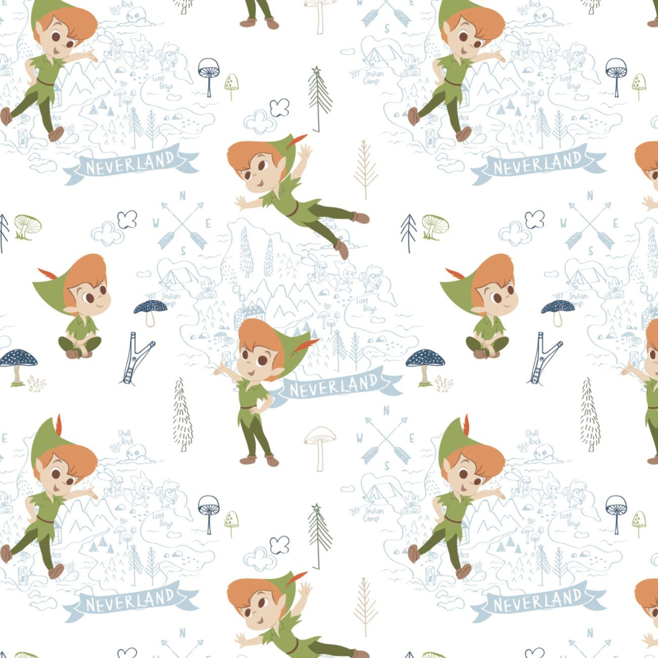 Disney Peter Pan 201-1 White Neverland Adventures