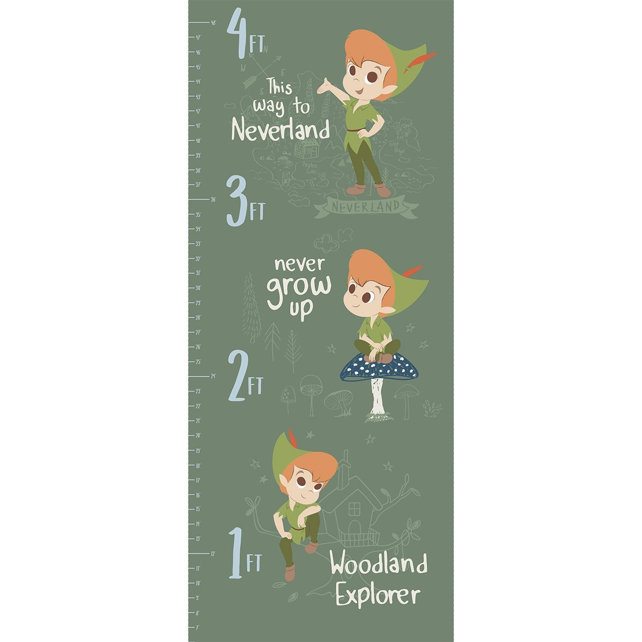 Disney Peter Pan 205-1 Growth Chart Panel