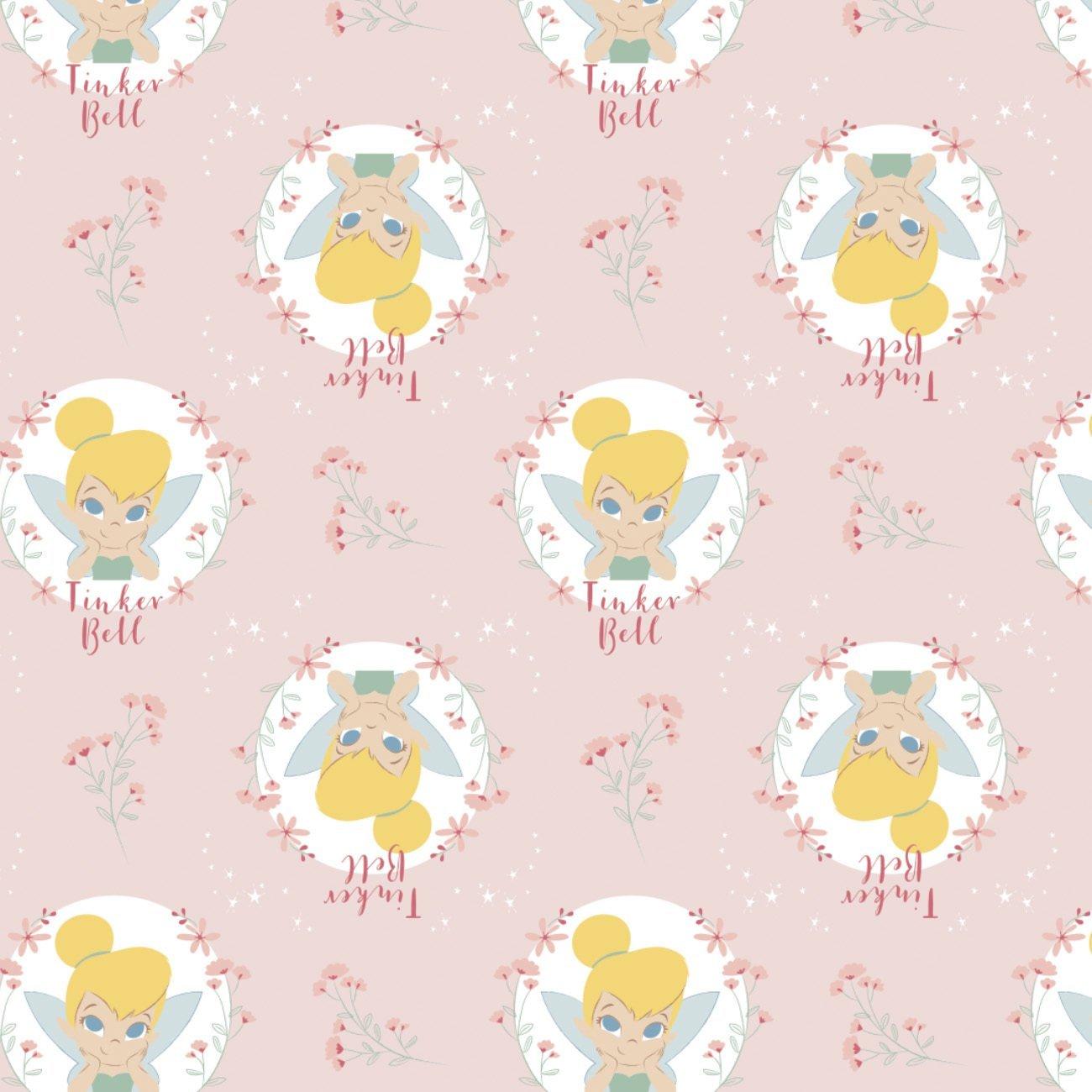 Disney Tinkerbell 303-1 Light Pink Floral Badges