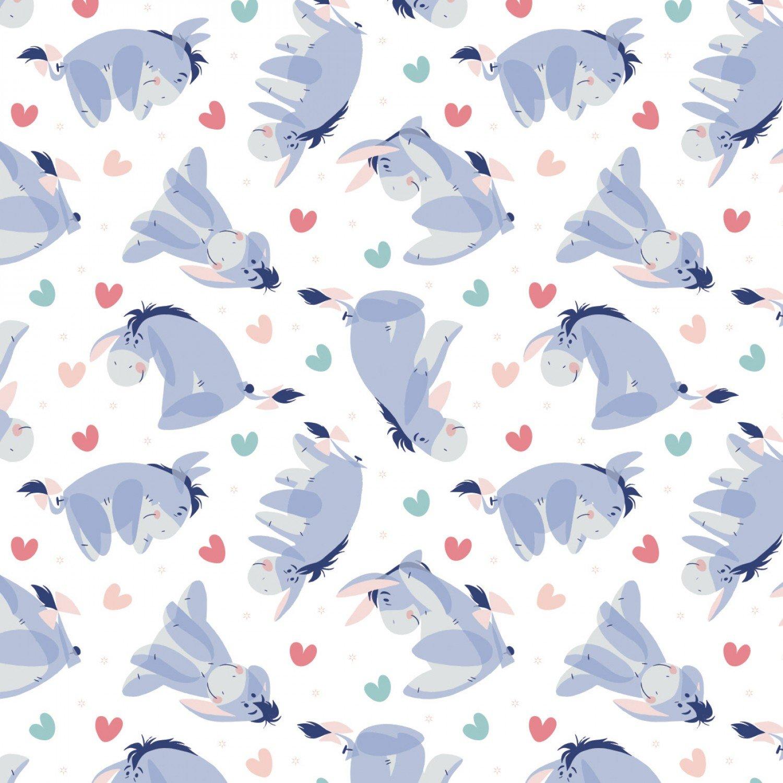 Winnie the Pooh 85430519 Eeyore Heart White