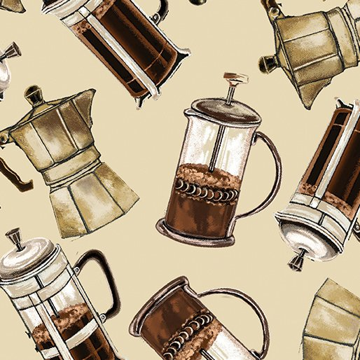 Expresso Yourself 8558-07 Coffee Carafes on Cream