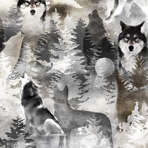 Into the Woods II 8720-11 Wolf Grey