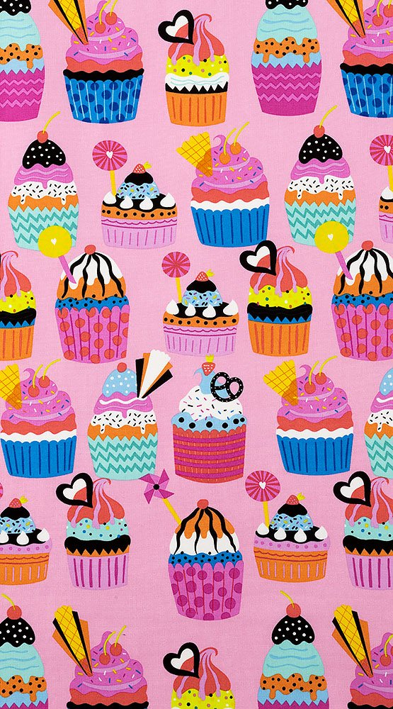Frosted Cupcakes 8774-B Pink