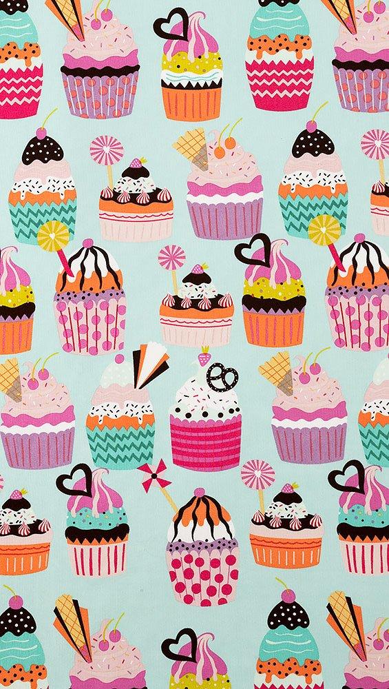 Frosted Cupcakes 8774-C Aqua