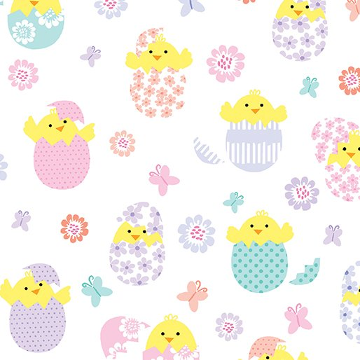 Easter Chicks 8796-09 White