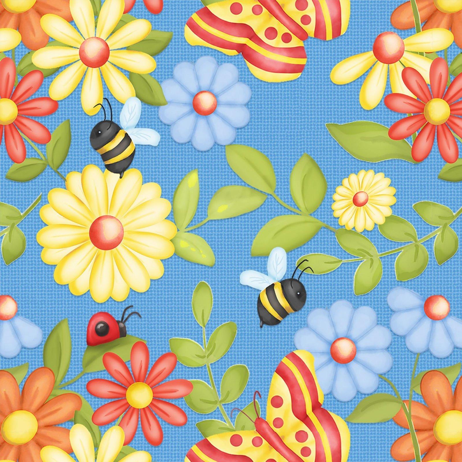 Gnome Garden 9447-11 Butterflies & Flowers Blue