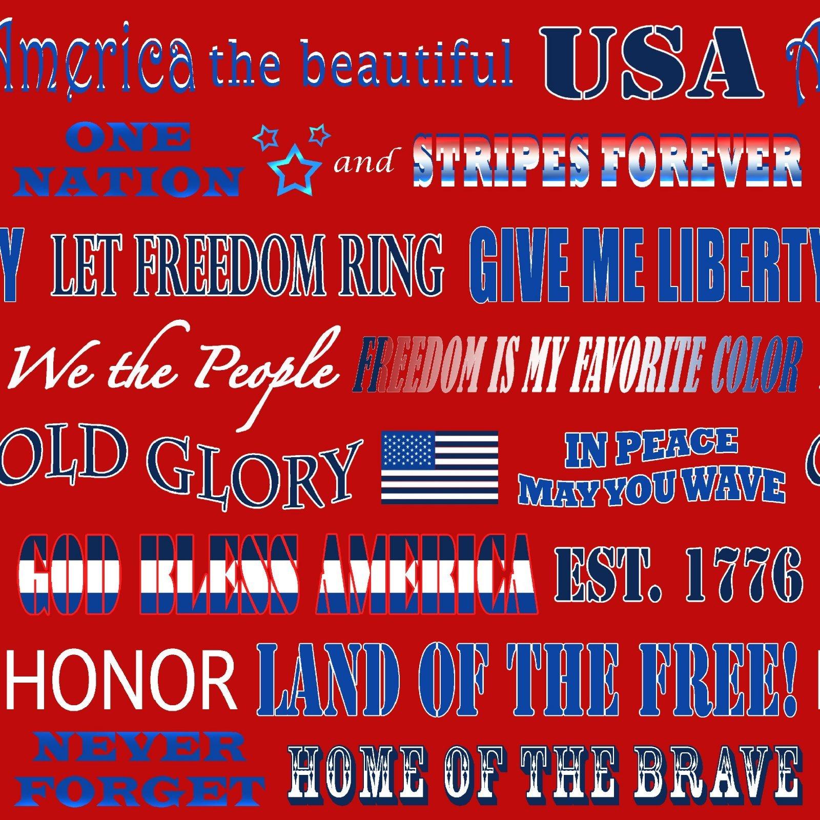 American Truckers 9480-88 Patriotic Phrases Red