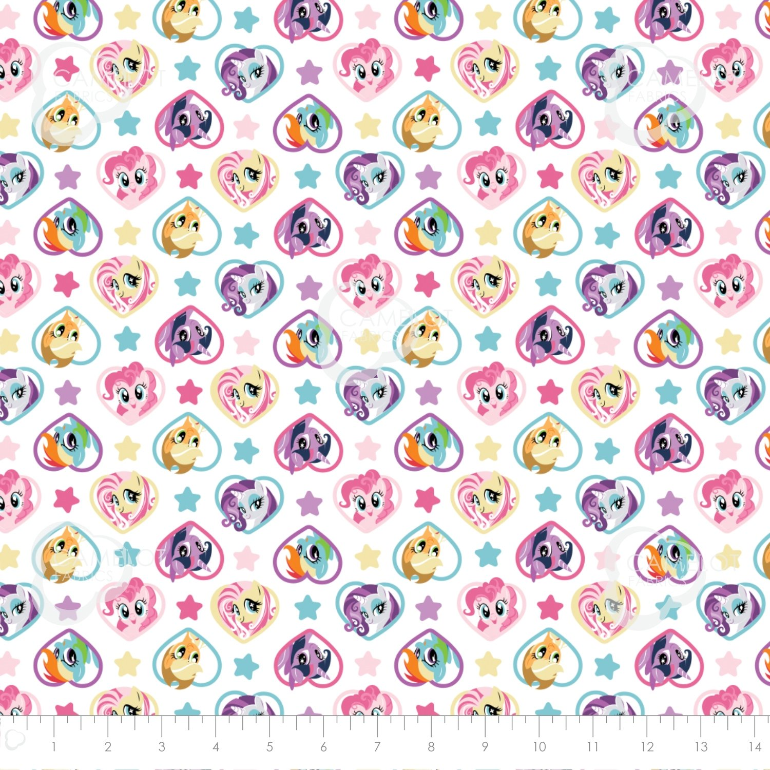 My Little Pony 95010112-1 Hearts on White