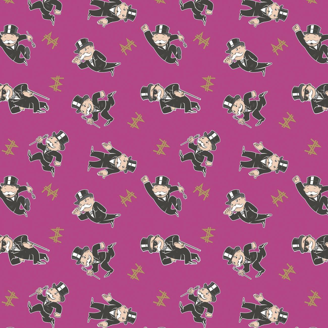 Hasbro Monopoly 95070201-3 Pink Mr. Monopoly Toss
