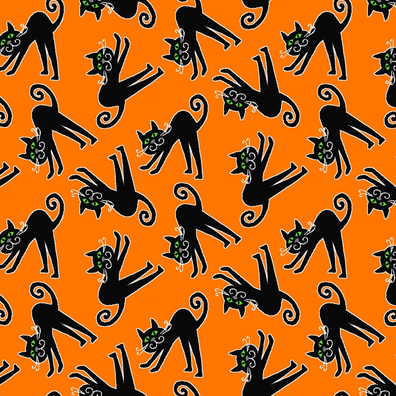 Here We Glow 9539G-39 Cats Orange