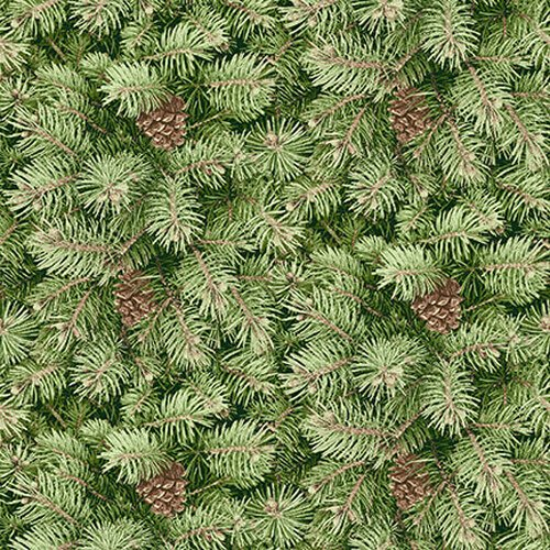 Holiday Botanical 9557-66 Packed Pine Branches