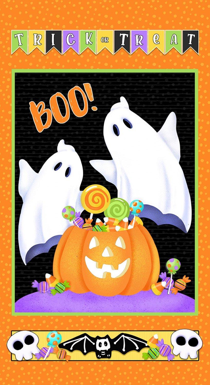 Glow Ghosts 9609PG-39 Ghosts & Pumpkins Panel 24