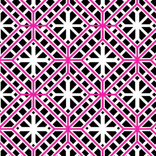 Geo Trellis 9775-20 Black/Pink