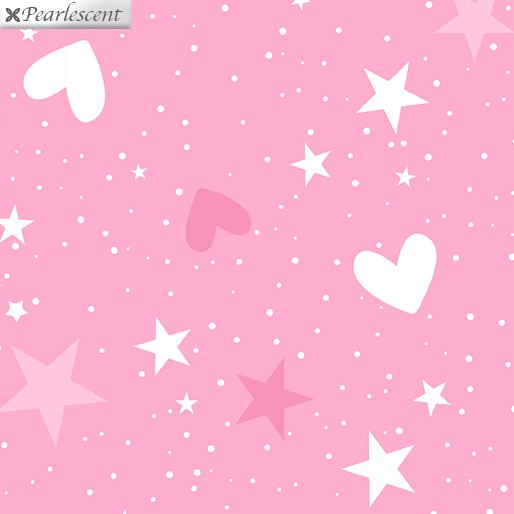 Unicorn Magic 9802P-02 Magical Stars & Hearts Pink
