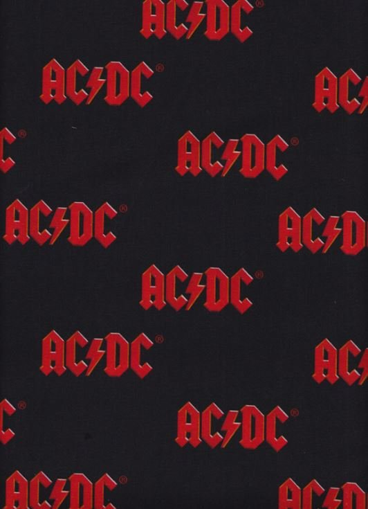 ACDC 71223 Red Logo on Black