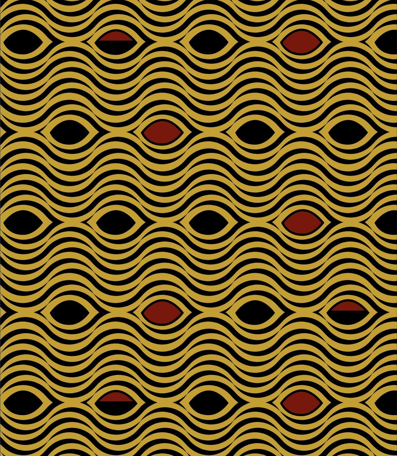 African Waves 2123 Yellow