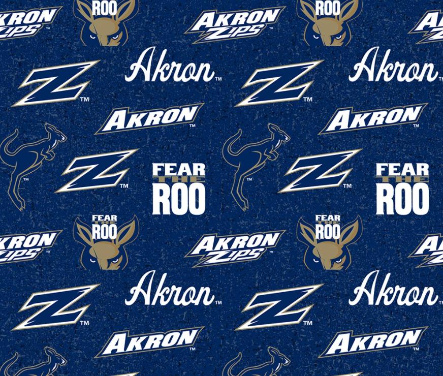 NCAA Akron Zips 1178 Blue & Gold