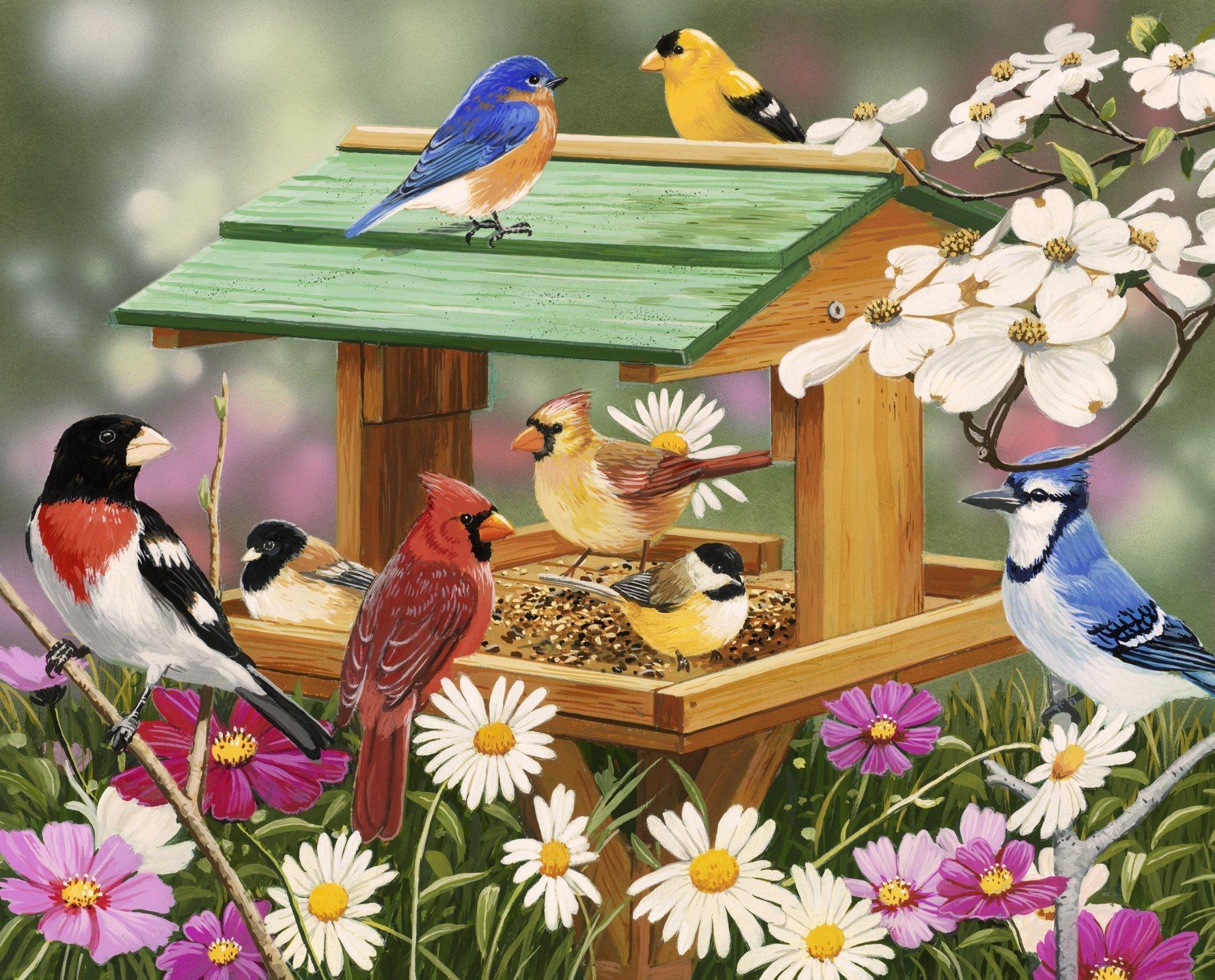 Spring Feast 4207 Birds Panel 36