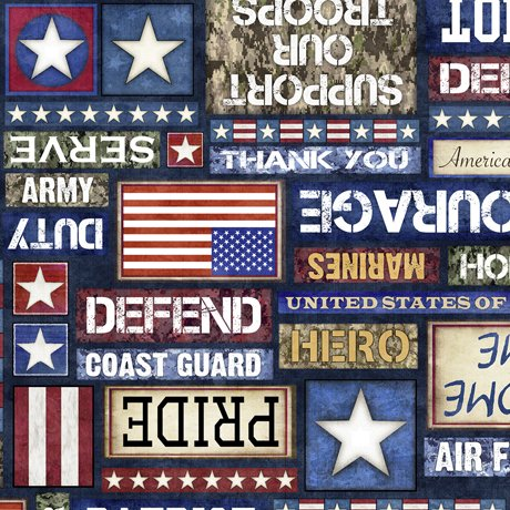 All American 27617-N Patriotic Text