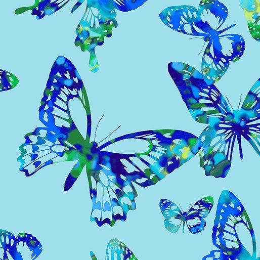 Aloha Butterflies 9717 Turquoise