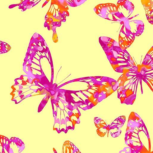 Aloha Butterflies 9717 Yellow