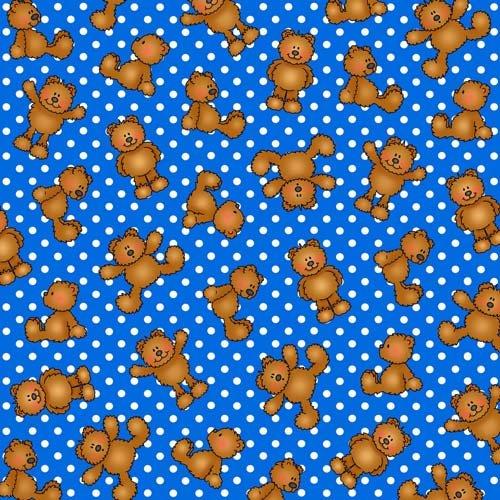 Alpha-Bears Dots 6653 Blue