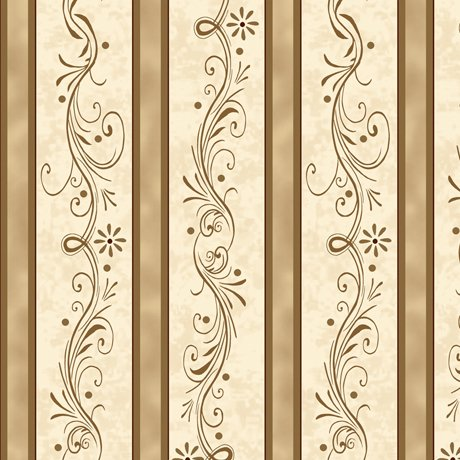 Amazing Grace 24046-A Scroll Stripe Tan