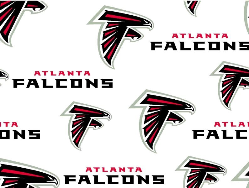 NFL Logo Atlanta Falcons 6209 White