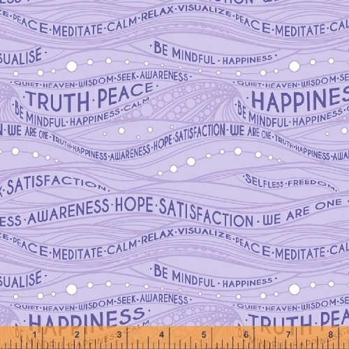 *EOB* Be Mindful Words 51031-3 Lavender - .31YD