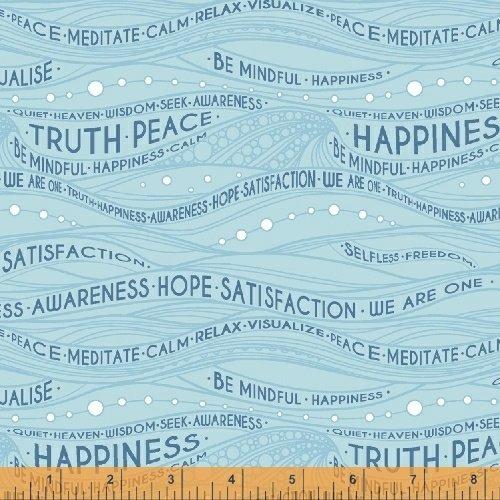 *EOB* Be Mindful Words 51031-4 Blue - 0.72 YD