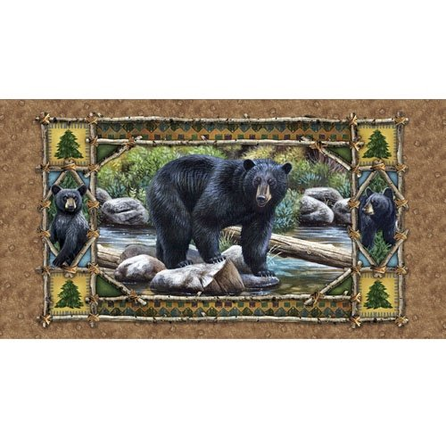 Bear Country Bear Panel 23972
