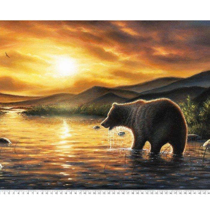 Bear in Water 4057 Panel