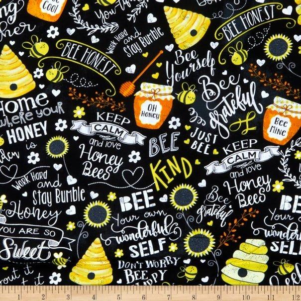 You Are My Sunshine C7852 Bee Kind Black