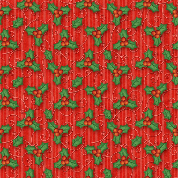 END OF BOLT Believe Holly 6242-88 Red - .75 YD